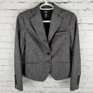 BODY BY VICTORIA | wool tweed cropped blazer